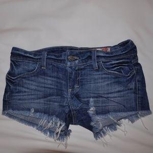 Dark Washed Jean Shorts